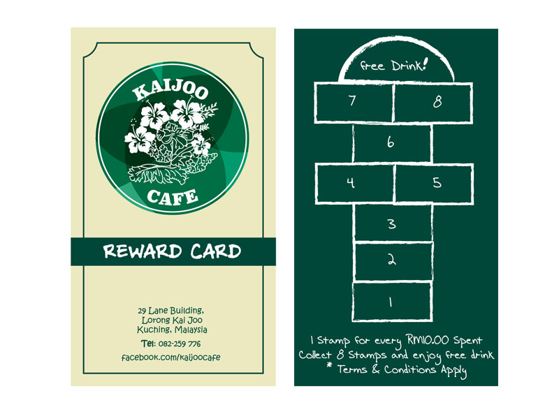 kaijoo cafe loyalty card