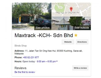 Maxtrack Kuching – Google Listing Fix